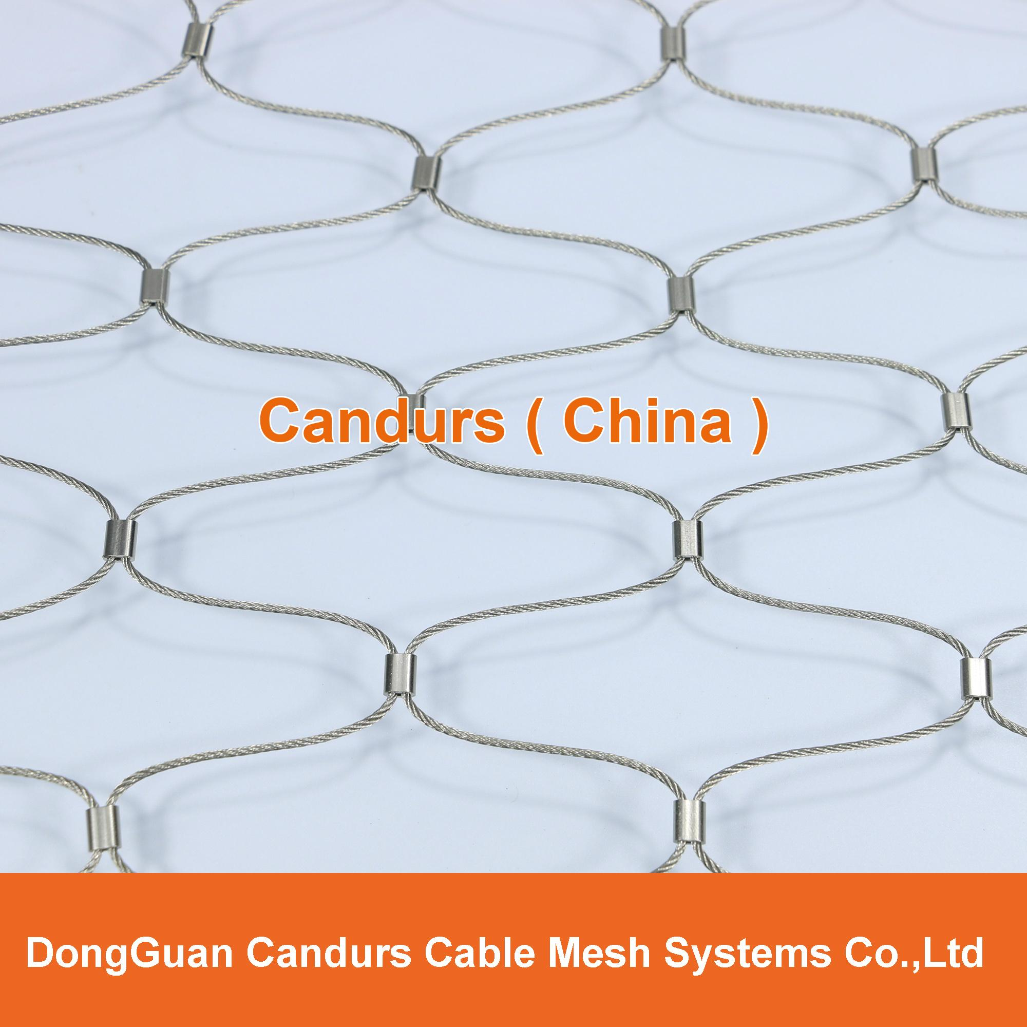 Diamond Ferruled Stainless Steel Wire Rope Cable Balustrade Railing Infill Mesh 9