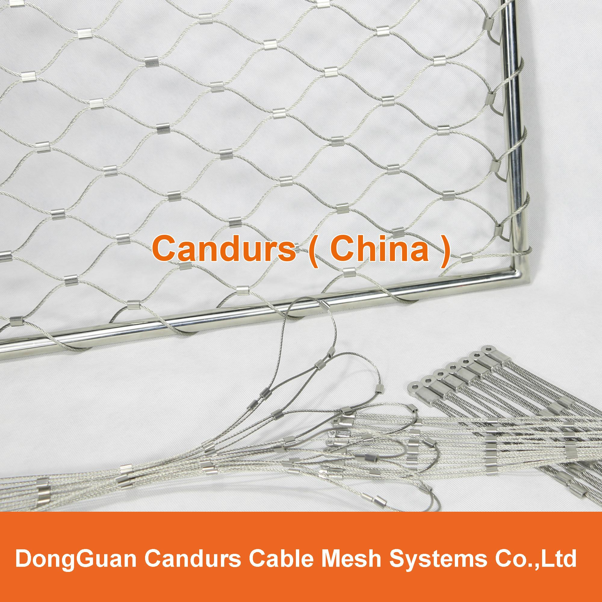 Diamond Ferruled Stainless Steel Wire Rope Cable Balustrade Railing Infill Mesh 10