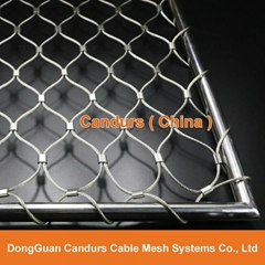 Diamond Ferruled Stainless Steel Wire Rope Cable Balustrade Railing Infill Mesh