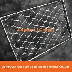 供應壓扣型不鏽鋼菱形防護護欄繩網