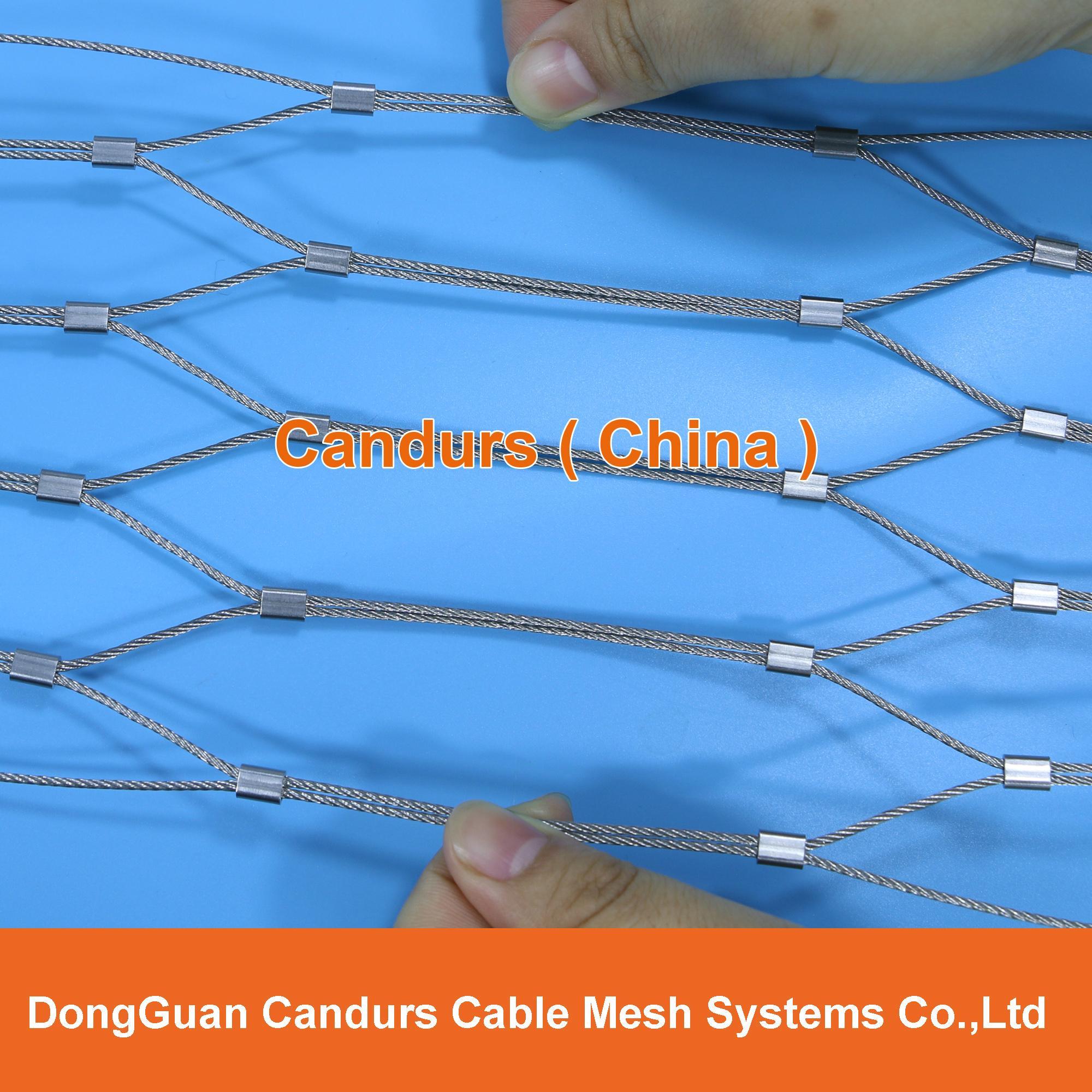 柔性不锈钢扶手栏杆防护网 14