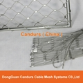 Inox Steel Ferrule Wire Rope Mesh For Balustrade Infill