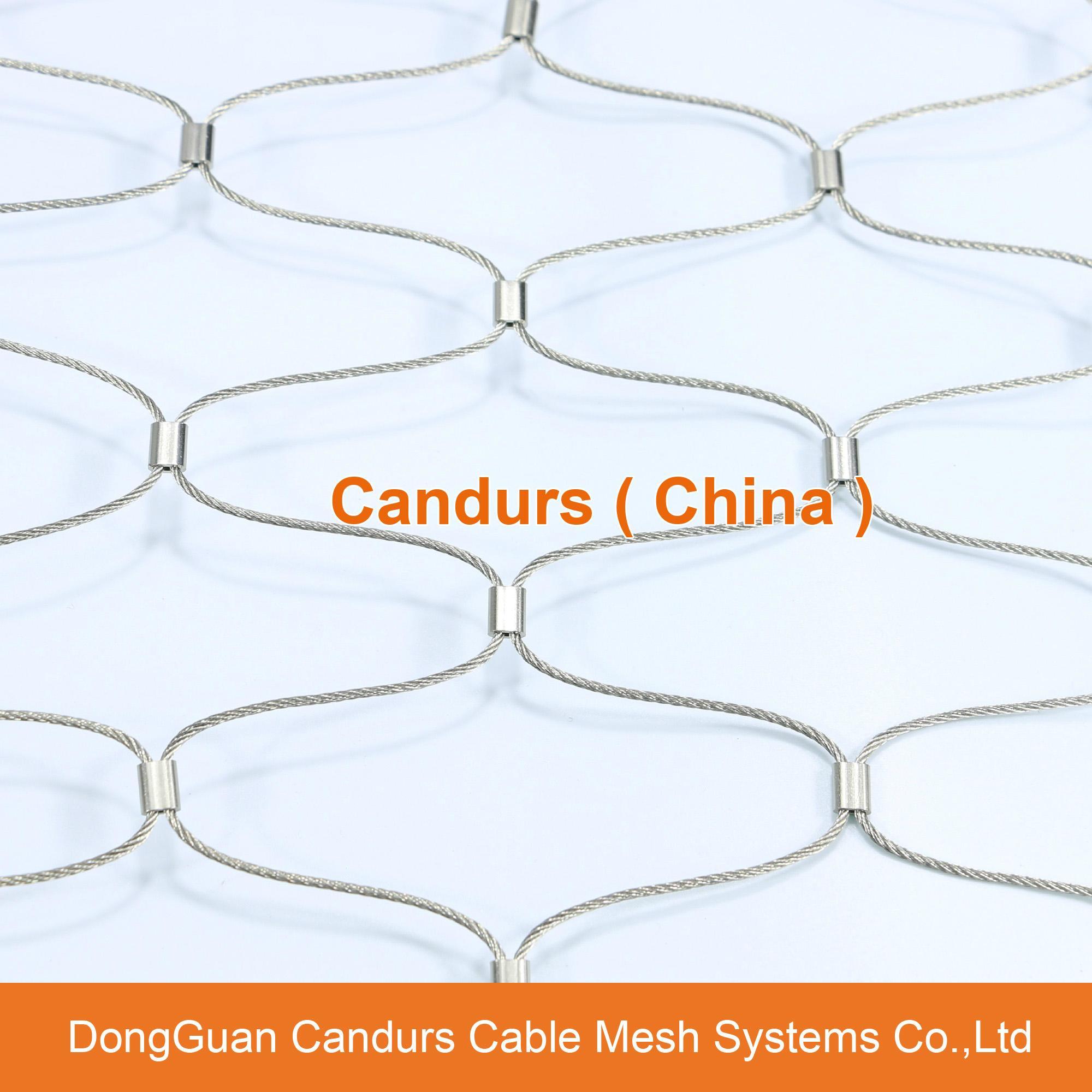 不锈钢绳建筑柔性防护网 15
