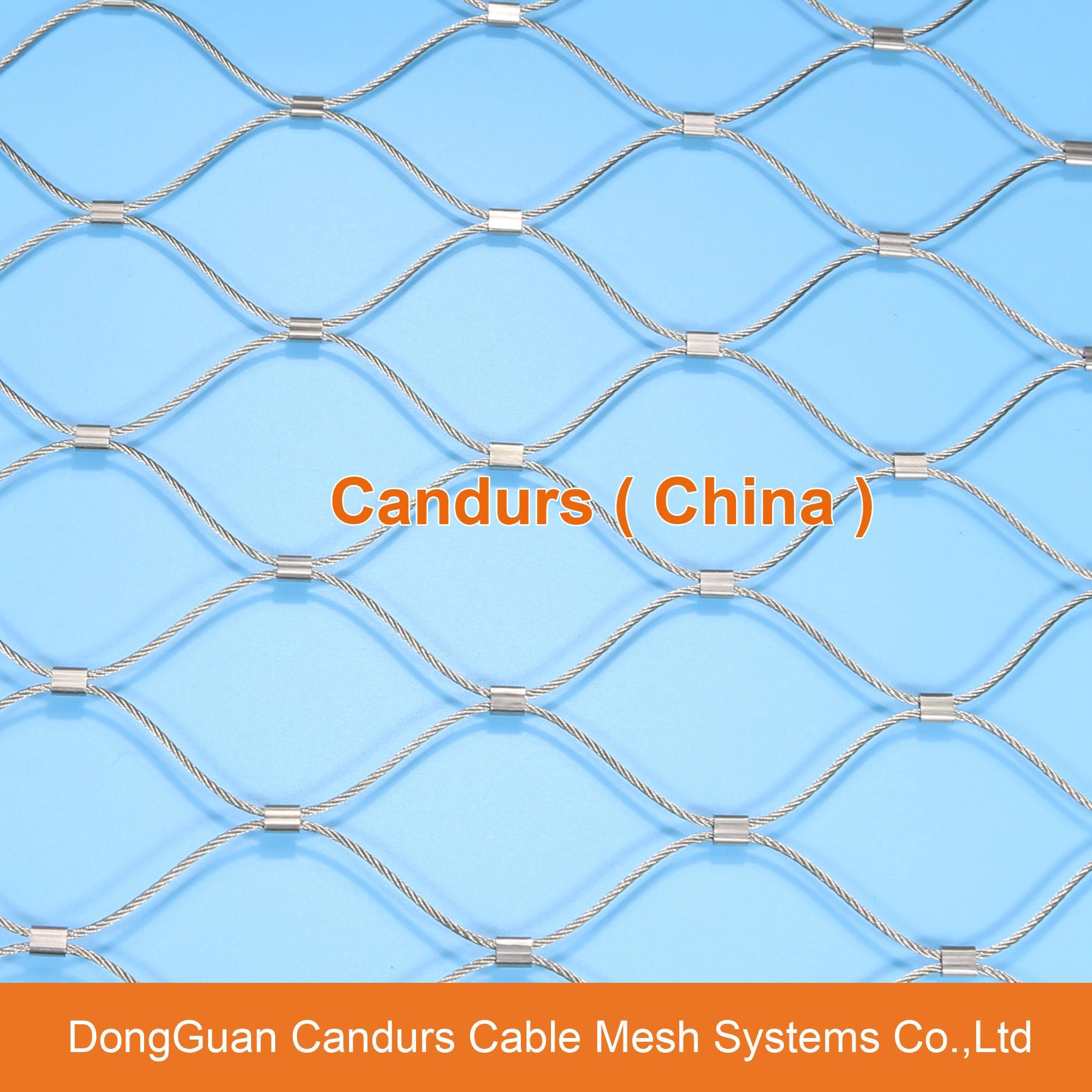 不锈钢绳建筑柔性防护网 16