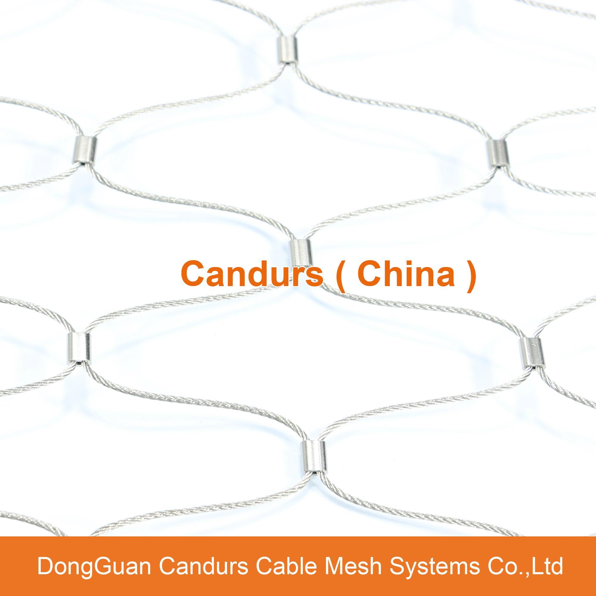不锈钢绳建筑柔性防护网 19