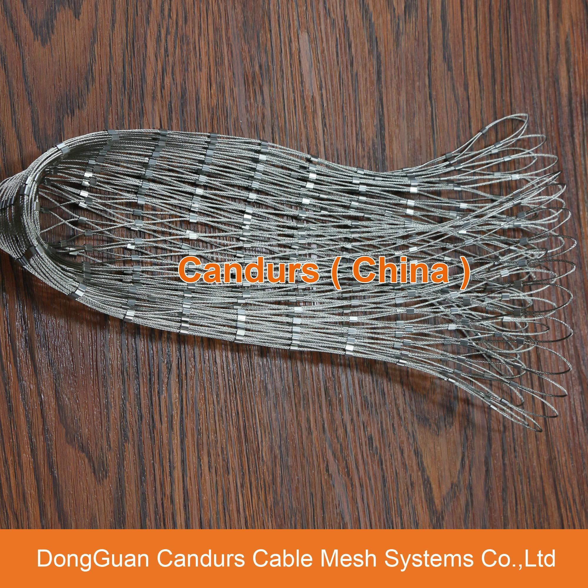 新型不鏽鋼絲繩夾扣網 20