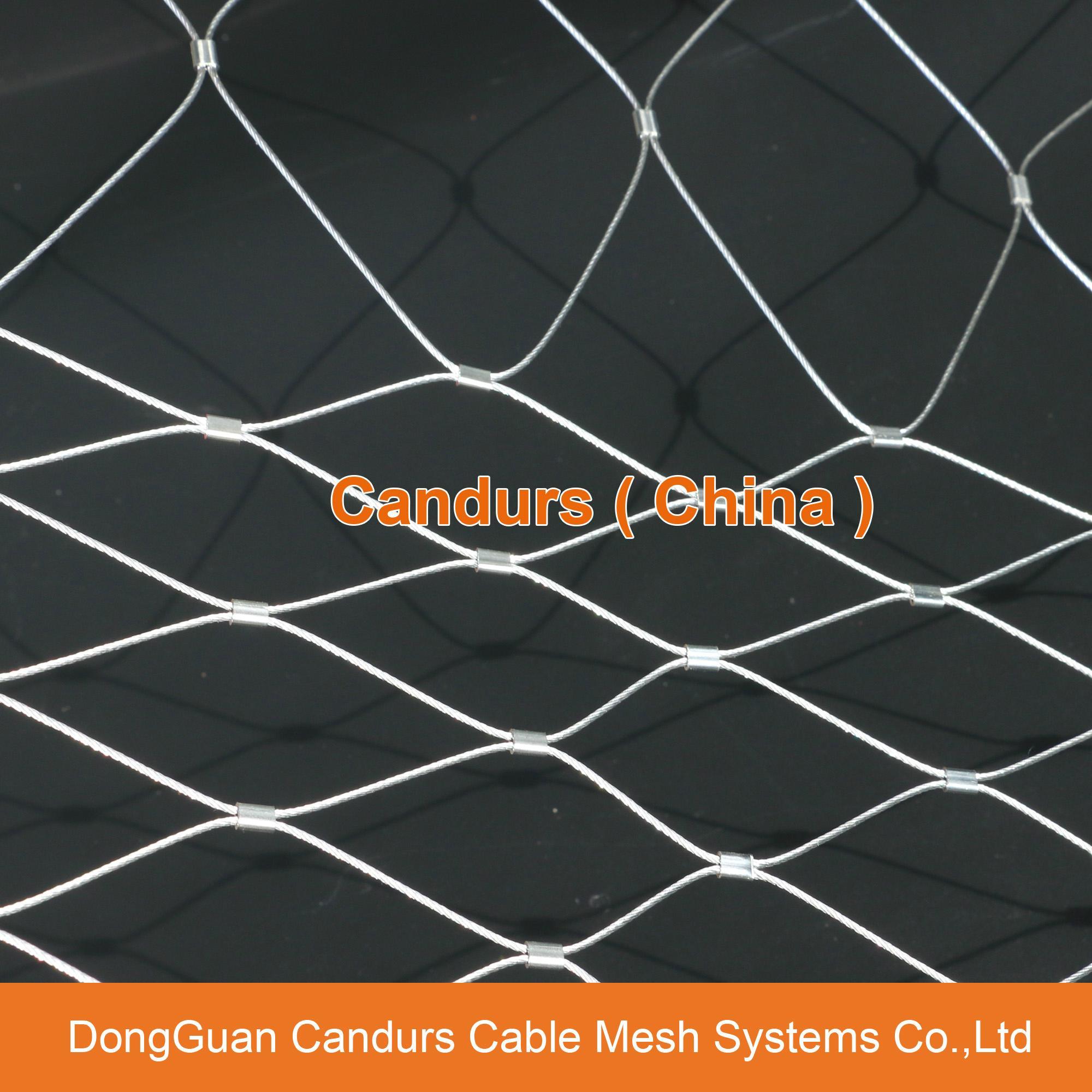 不鏽鋼絲繩體育圍欄網 14