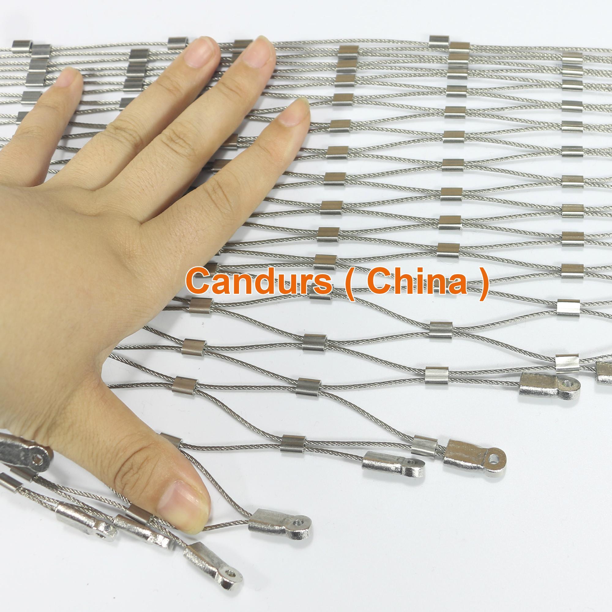 不鏽鋼絲繩體育圍欄網 19