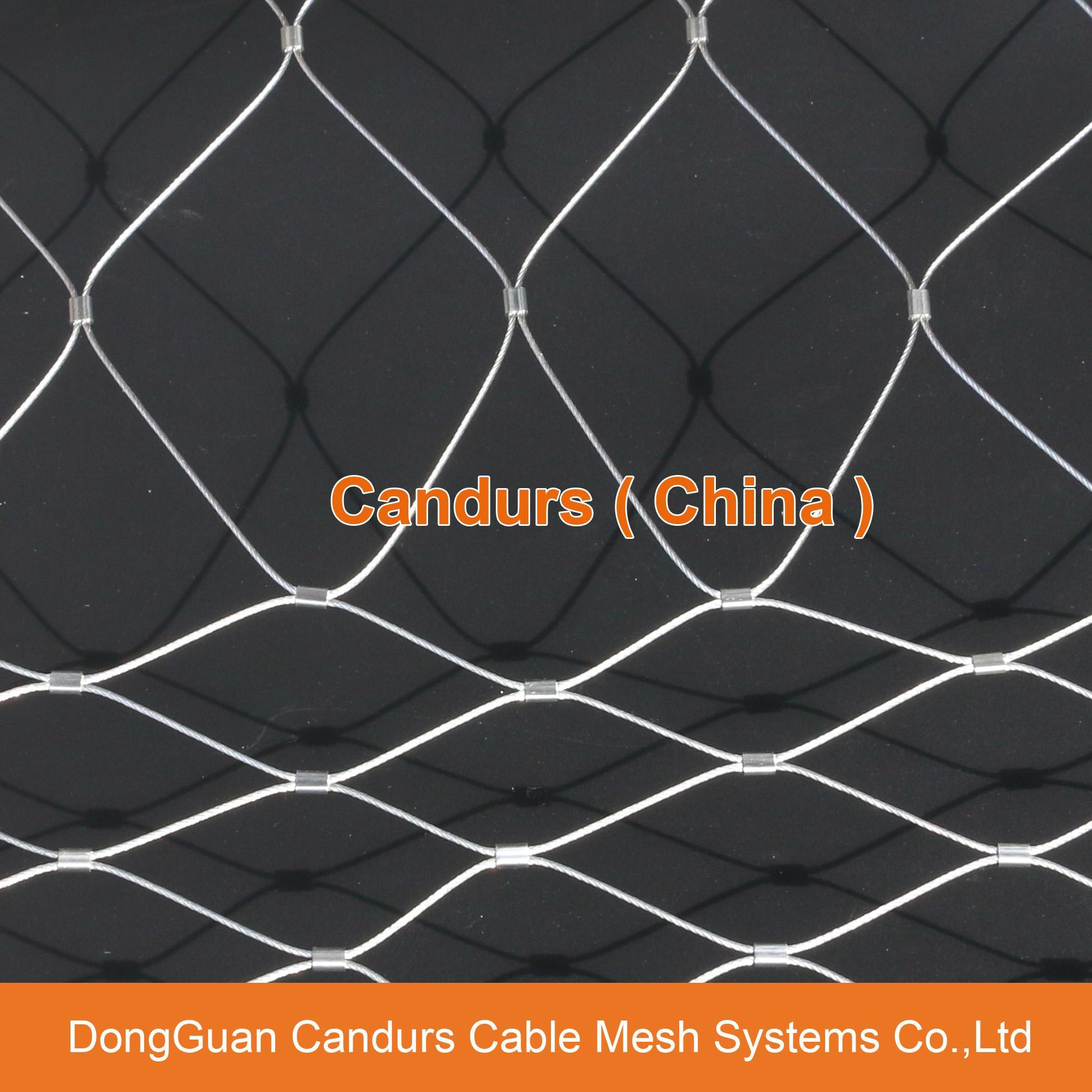 昌达不锈钢丝绳网——美标316不锈钢绳网 16