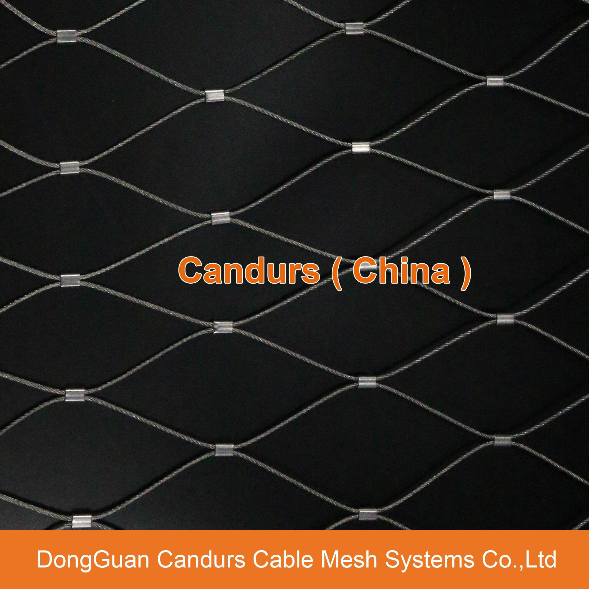 昌達不鏽鋼絲繩網——美標316不鏽鋼繩網 17