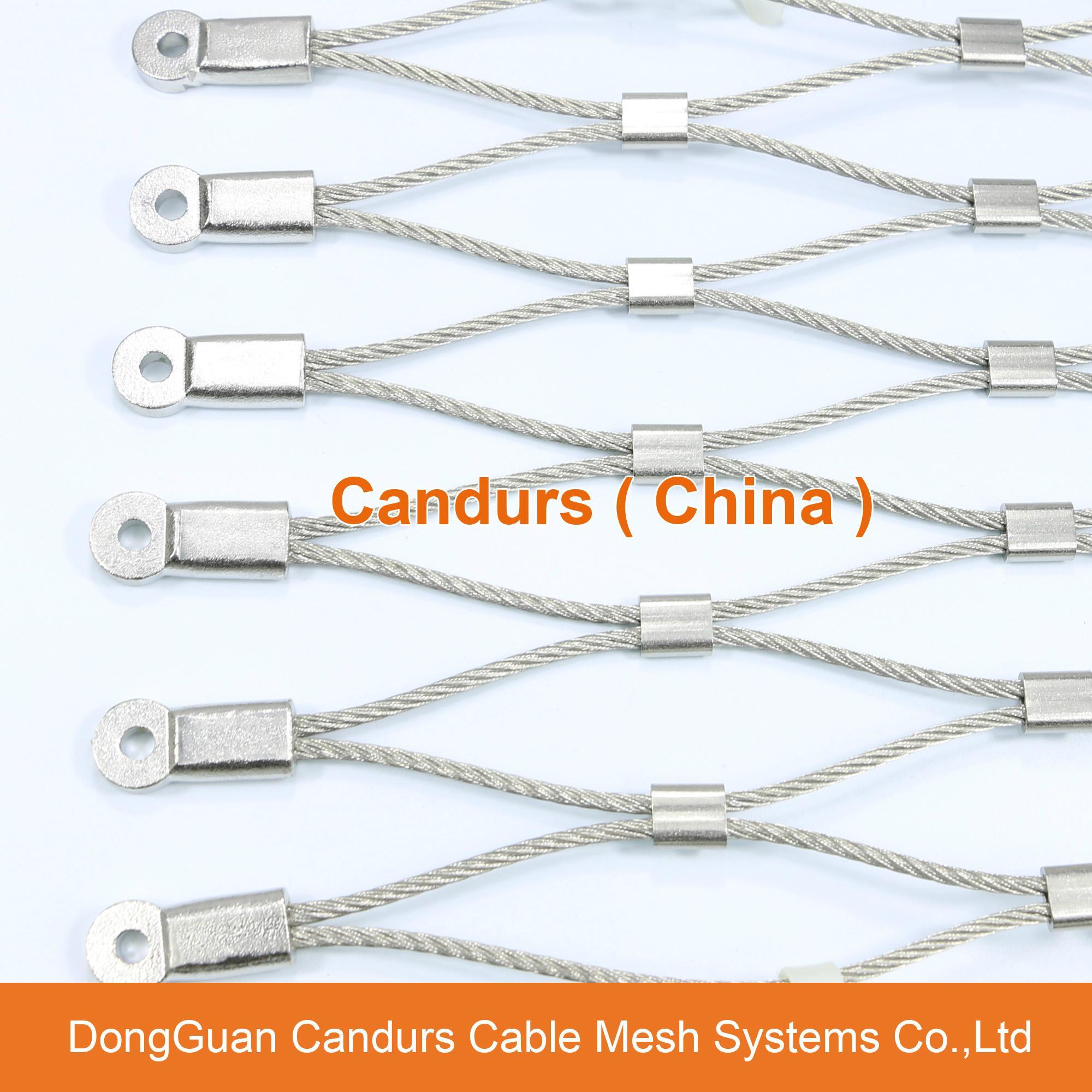 不鏽鋼絲繩網動物扣網 18