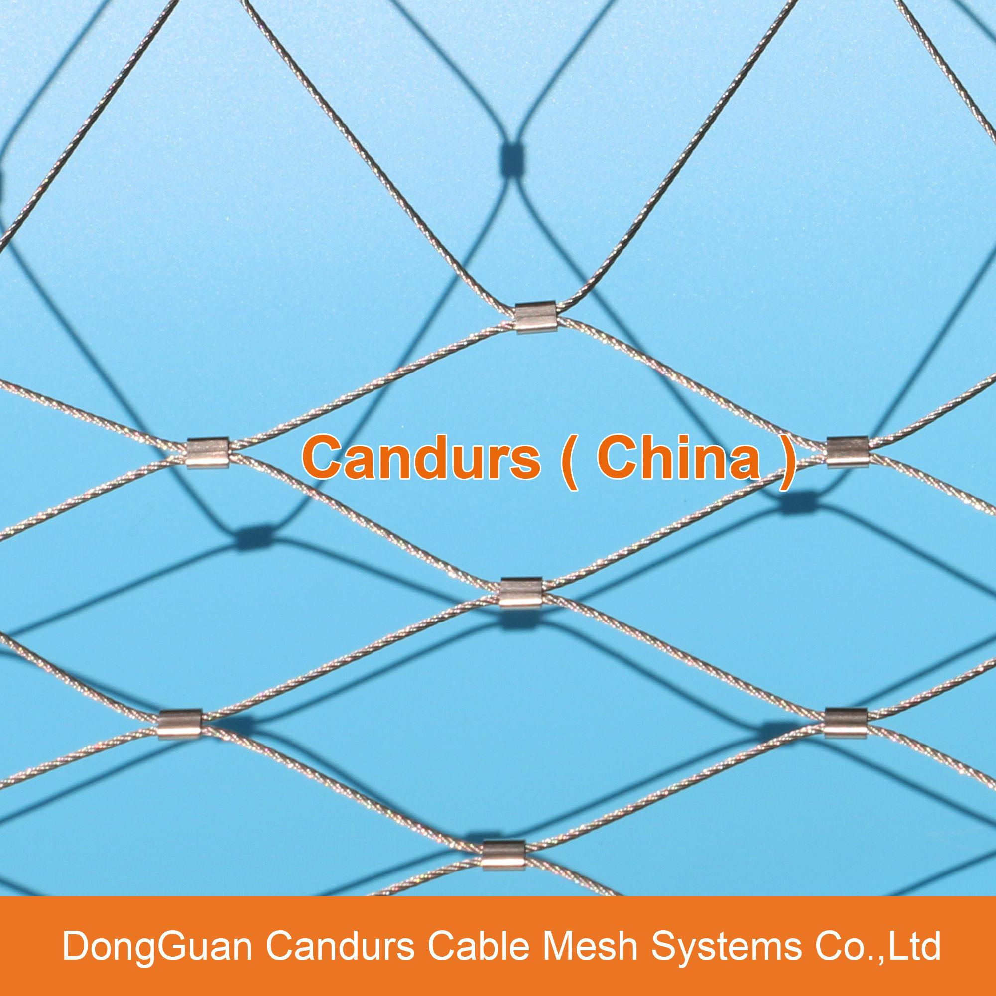 Stainless Steel Zoo Rope Mesh Enclosure - DecorRope - Candurs (China ...