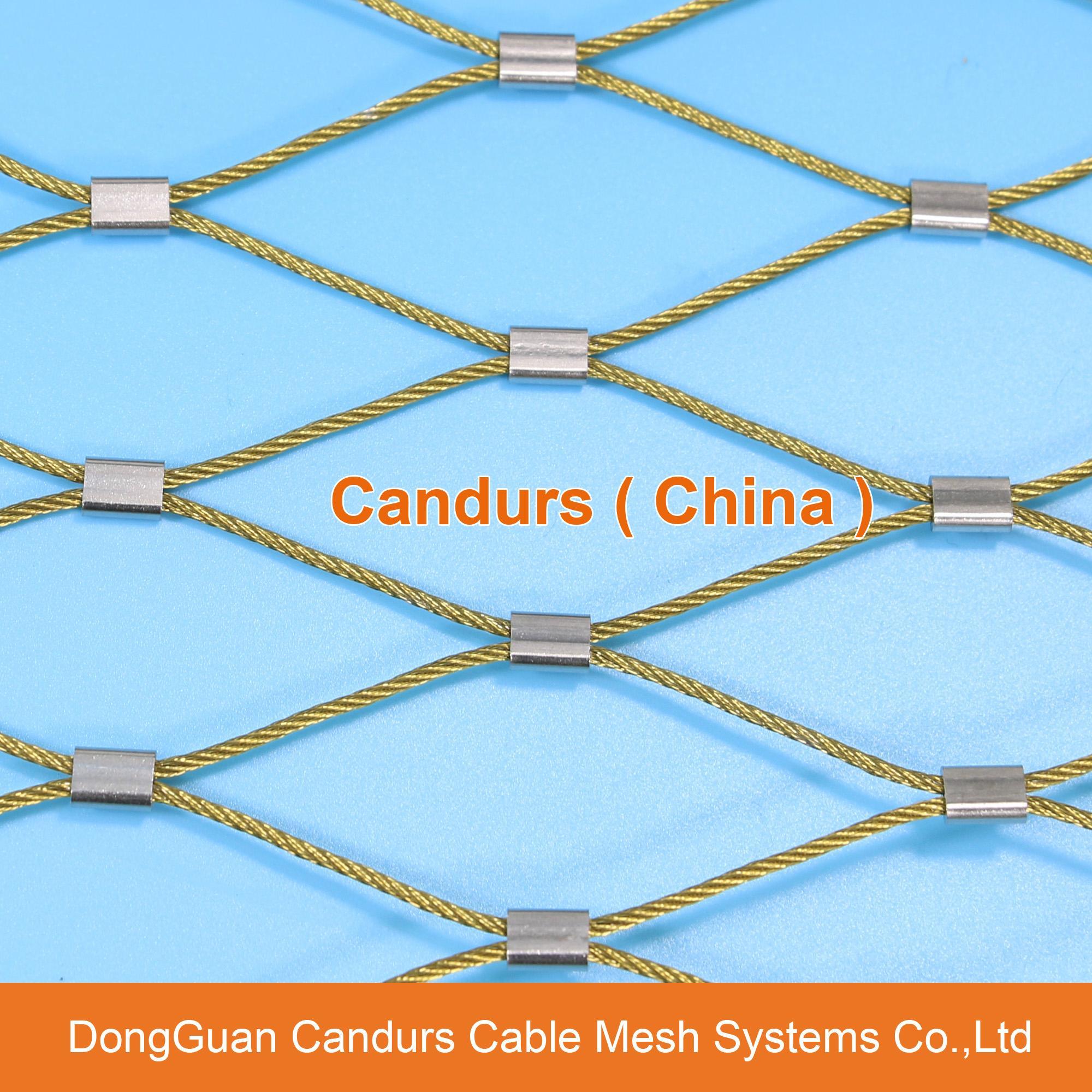 动物园用的不锈钢丝绳网 2