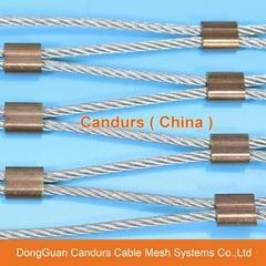 Flexible Stainless Steel Rope Mesh Ferrule Type