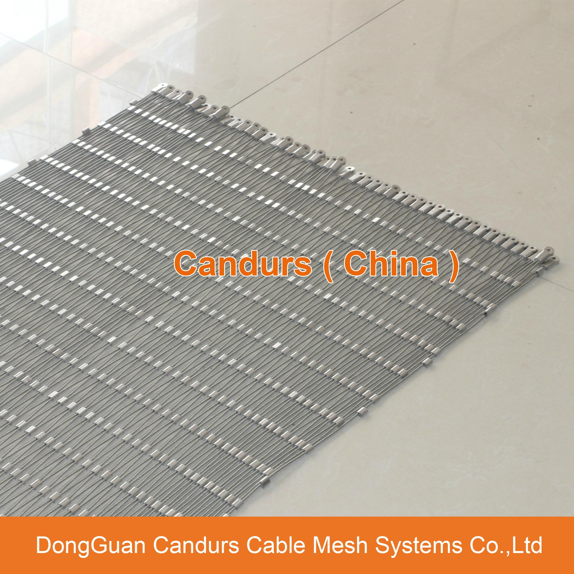 Flexible Stainless Steel Rope Mesh Ferrule Type 18