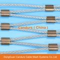 Stainless Steel Wire Rope Animal Ferrule Mesh