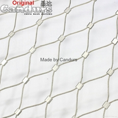 2 mm 60 mm x 105 mm Stainless Steel Wire Rope Mesh Net
