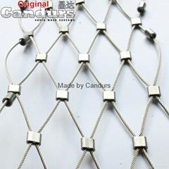 不鏽鋼金屬柔性繩網(卡扣網)