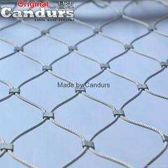 菱形不鏽鋼絲繩網
