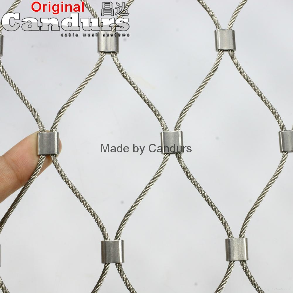 Stainless Steel Wire Rope Ferrule Mesh 2