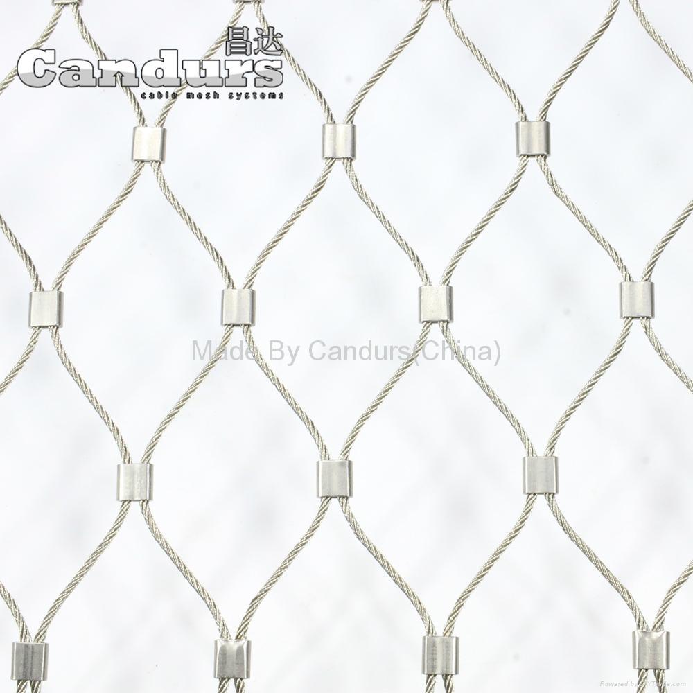 2 mm 140 mm x 240 mm Flexible SS Wire Rope Mesh Ferrule Type