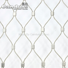 2.0mm Cable 50mm Flexible SS Wire Rope Mesh For Balustrade