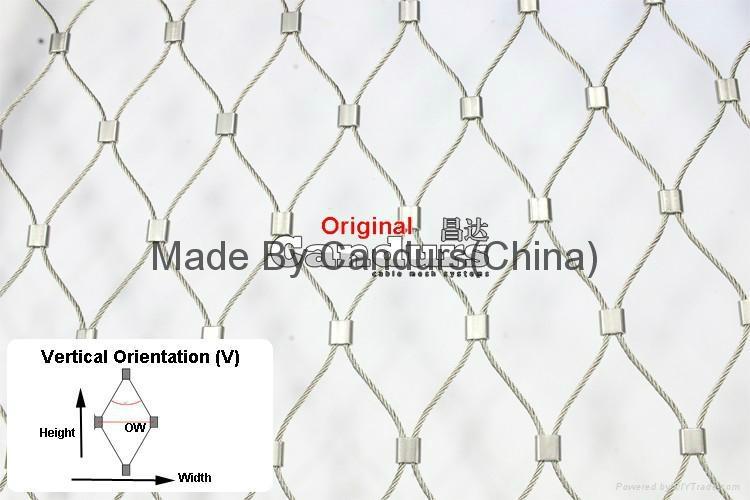 供应压扣型不锈钢菱形防护护栏绳网 4