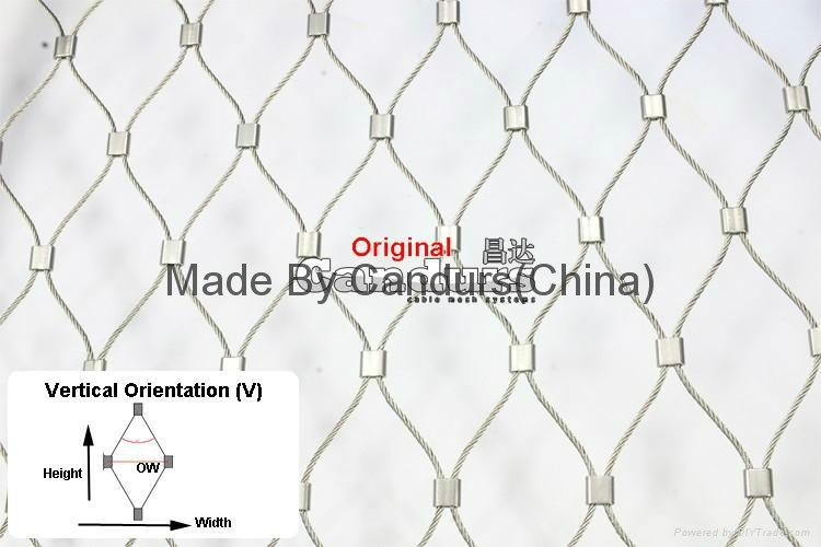 L24  Pattern Stainless Steel Cable Mesh For Balustrade Staircase  Railing 4