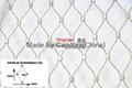 供應壓扣型不鏽鋼菱形防護護欄繩網 4