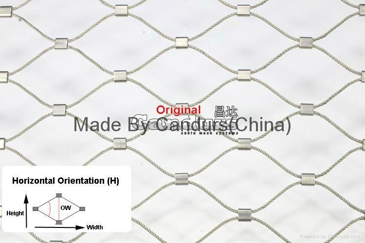 供應壓扣型不鏽鋼菱形防護護欄繩網 5