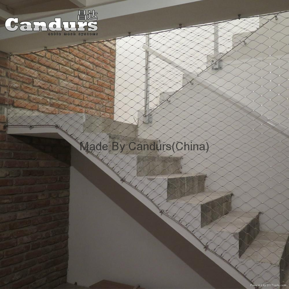L24  Pattern Stainless Steel Cable Mesh For Balustrade Staircase  Railing 6