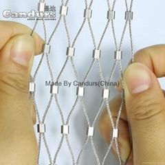 不锈钢套钢索动物园防鸟网
