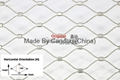 25 mm 316 Stainless Steel Rope Mesh Bird Netting For Zoo