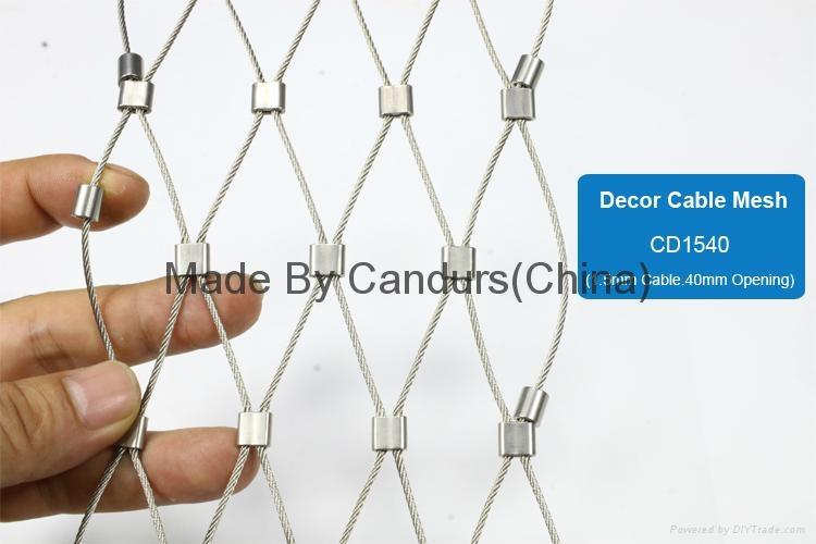 40mm 欄杆樓梯柔性不鏽鋼絲繩防護網 4