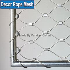 不锈钢编织网栏杆