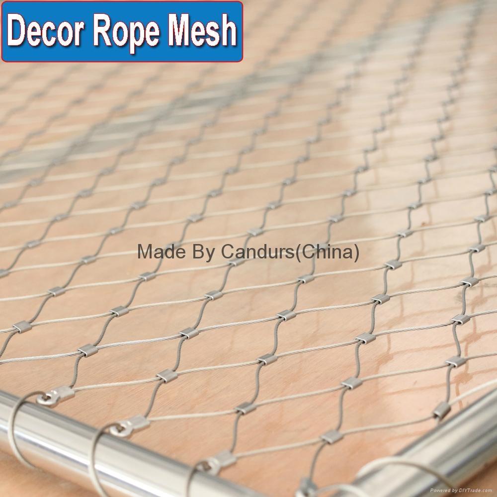 供应压扣型不锈钢菱形防护护栏绳网 1
