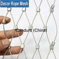 Flexible Stainless Steel Wire Rope Netting 1.5 mm Cable 60mm Mesh
