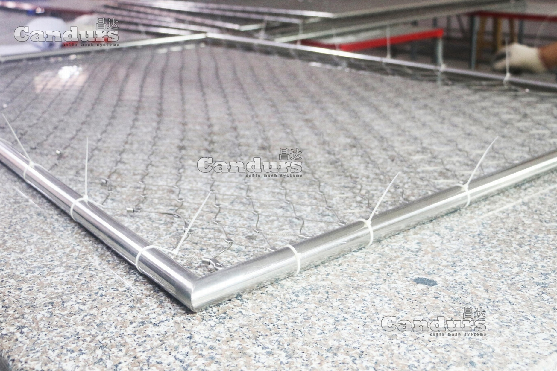 Pre-Fabricated Rope Mesh Panel