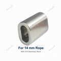 14 mm Stainless Steel Cable Crimp Sleeve