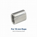 10 mm AISI 316 Stanless Wire Rope Steel Sleeve