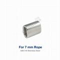 7.0 mm Stanless Steel Wire Rope Crimping Ferrule