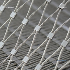 7x7 1.5 mm 25mm x 45 mm 316 Flexible Inox Rope Ferruled Mesh