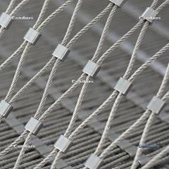 7x7 1.5 mm 25mm x 45 mm 316 不锈钢丝绳扣网