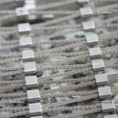 7x7 1.5mm 35 mm x 60 mm Flexible Inox Cable Net