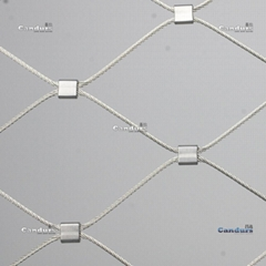 1.5mm 80mm x 140mm Flexible Stainless Steel Cable Mesh