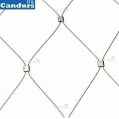 不锈钢丝绳建筑柔性防护网