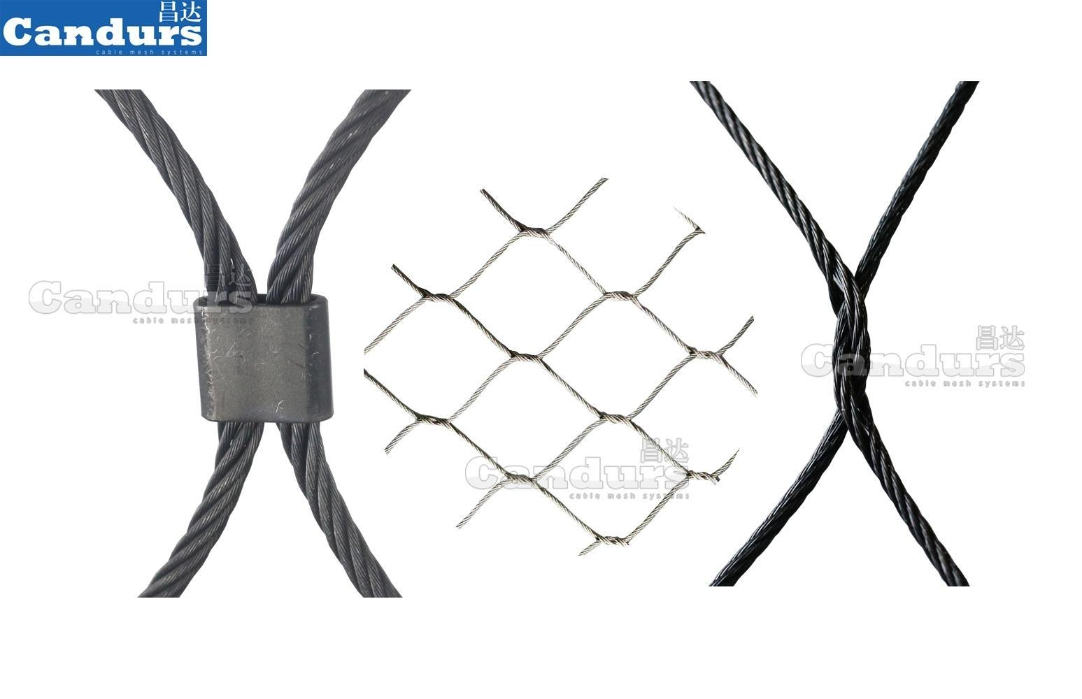動物圍網柔性不鏽鋼繩網