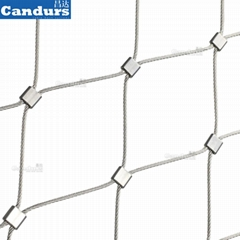 80mm Stainless Steel Rope Mesh Safety Net For Stair Railing