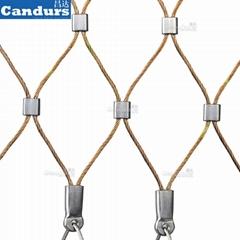 40mm 栏杆楼梯柔性不锈钢丝绳防护网
