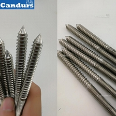 M8 M10 316 Stainelss Steel Dual Thread Screw